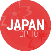 Japan Top 10 Sticky Logo
